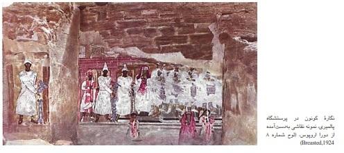 تاریخچه-حجاب-در-ایران-اشکانیان-پرستشگاه-پالمیری-چادر-ارغوانی-hi-hijab